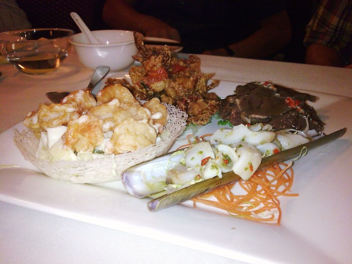 platter with bamboo clam as highlite