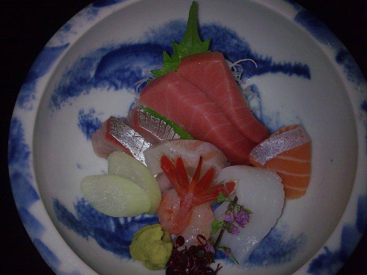 Open sashimi -- oshi!