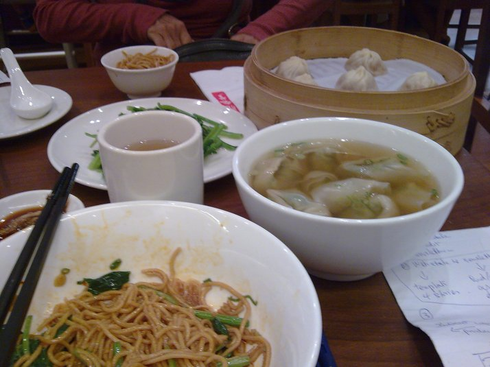 noodles, soup n dumpling