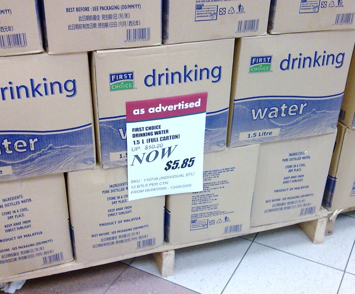 something wrong with S'pore's tap water?